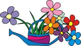 Fleurs dans l'eau de jardin Image stock