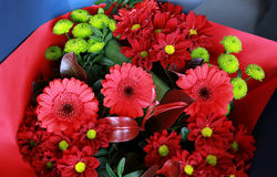 Fleurs dans la boutique Photo stock
