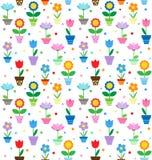 Fleurs dans la configuration de bacs Photographie stock libre de droits