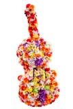 Fleurs dans la forme de guitare Images libres de droits