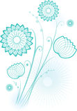 Fleurs dans le bleu illustration libre de droits