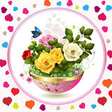 Fleurs dans le flowerpot illustration de vecteur