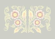 Fleurs dans le style décoratif Image libre de droits