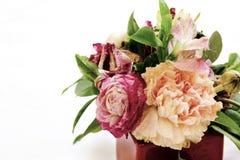 Fleurs dans un bac Photographie stock