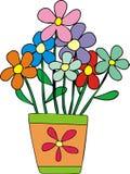 Fleurs dans un pot Photographie stock