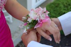 Fleurs de bal d'étudiants Images stock