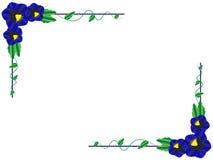 Fleurs de bleu de vue Illustration Stock