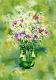 Fleurs de bouquet d'aquarelle Photo stock