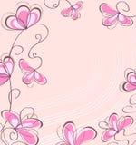 Fleurs de Brown, sur un fond rose Image libre de droits