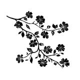 Fleurs de cerisier de brindille illustration stock