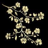 Fleurs de cerisier de brindille illustration libre de droits
