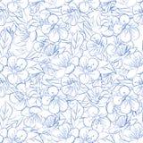 Fleurs de cerisier de brindille seamless Image stock
