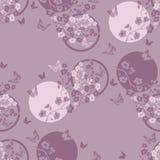 Fleurs de cerisier et papillon de brindille seamless Images libres de droits