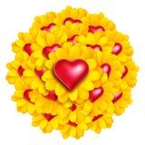 Fleurs de coeur Photo libre de droits