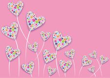 Fleurs de coeur Photographie stock