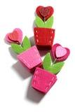 Fleurs de coeur d'amour Photographie stock libre de droits