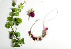Fleurs de couronne de mariage Photo stock