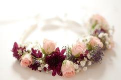 Fleurs de couronne de mariage Photos stock