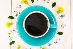 fleurs de cuvette de café Photos libres de droits