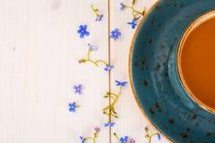 fleurs de cuvette de café Images libres de droits