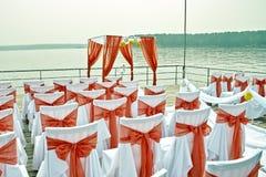 Fleurs de décor de mariage dans le style de corail Images stock