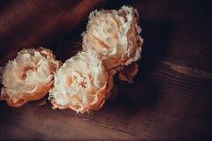 Fleurs de dentelle sur le fond foncé Photo libre de droits