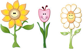 fleurs de dessin animé Images libres de droits