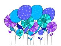 Fleurs de différentes couleurs Photo libre de droits