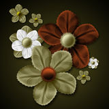 Fleurs de fantaisie photo libre de droits