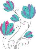 Fleurs de fantaisie illustration de vecteur