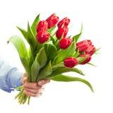 Fleurs de fixation de main Image libre de droits