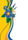 fleurs de fond Photos stock
