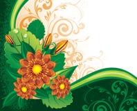 fleurs de fond Photo stock