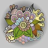 Fleurs de griffonnage Image libre de droits