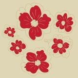 Fleurs de griffonnage Photo libre de droits