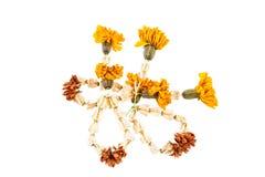 Fleurs de guirlande sèches Image libre de droits