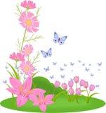 Fleurs de jardin illustration libre de droits
