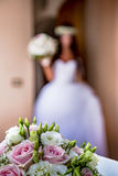 Fleurs de jeune mariée Photo stock