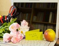 Fleurs de jour de secrétaire images libres de droits