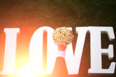 Fleurs de mariage d'amour Photographie stock