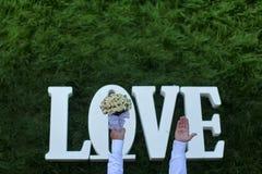 Fleurs de mariage d'amour Photo libre de droits