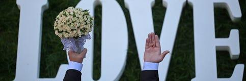 Fleurs de mariage d'amour Images stock