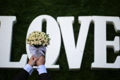 Fleurs de mariage d'amour Photo stock
