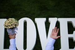 Fleurs de mariage d'amour Photographie stock libre de droits