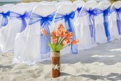 Fleurs de mariage de plage photographie stock libre de droits
