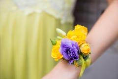 Fleurs de mariage pour la main Image libre de droits