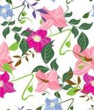 Fleurs de modèle de texture Photos libres de droits