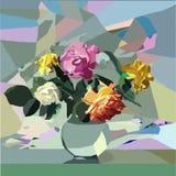 Fleurs de mosaïque illustration stock