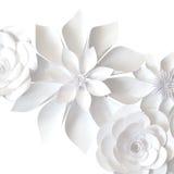 Fleurs de papier photographie stock