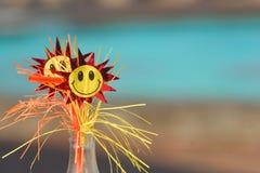 Fleurs de papier avec des visages Image libre de droits